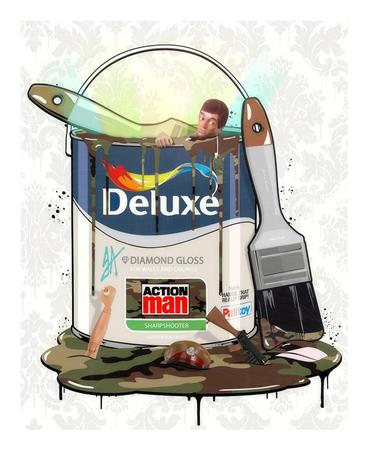 Deluxe Paint Can - Action Man