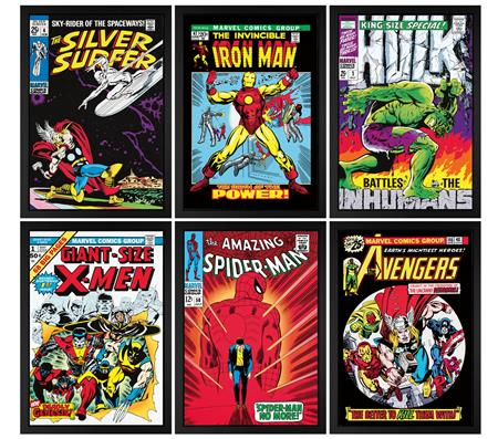 RARE! Marvel Superheroes - 1st Edition - Boxed Canvas Set of 6